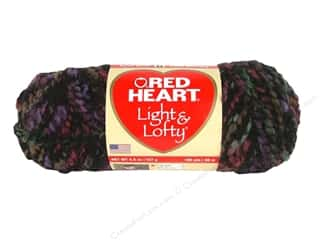 Bulky yarn: Red Heart Light & Lofty Yarn #9112 Nightline 105 yd.