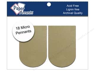 Paper Accents Chipboard Pennants 1 1/4 x 2 in. Micro Arched 18 pc. Kraft