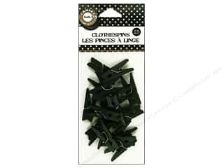 Canvas Home Basics: Canvas Corp Mini Clothespins 25 pc. Black