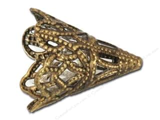 Sweet Beads Fundamental Finding Cone 16 x 20 mm Filigree Antique Gold 4pc