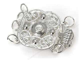 Sweet Beads Fundamental Finding Clasp 4 Strand Silver 1pc