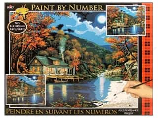 Projects & Kits: Plaid Paint By Number 16 x 20 in. Lakeside Cabin