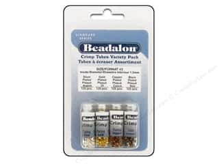 beading & jewelry making supplies: Beadalon Crimp Tubes Value Pack Size 3 500 pc.