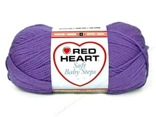 Clearance Red Heart Baby Clouds Yarn: Red Heart Soft Baby Steps Yarn #9536 Light Grape 256 yd.