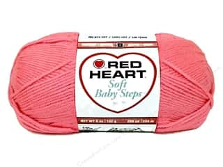 Clearance Red Heart Baby Clouds Yarn: Red Heart Soft Baby Steps Yarn #9702 Strawberry 256 yd.