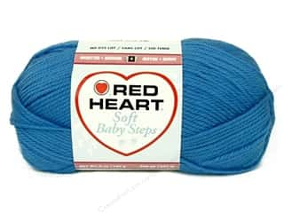 Clearance Red Heart Baby Clouds Yarn: Red Heart Soft Baby Steps Yarn #9802 Deep Sky 256 yd.