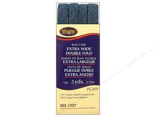 Wrights Extra Wide Double Fold Bias Tape 3 yd. Dark Denim