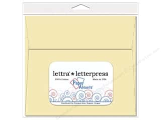 press accent: 7 x 7 in. Lettra Letterpress Envelopes by Paper Accents 10 pc. Natural