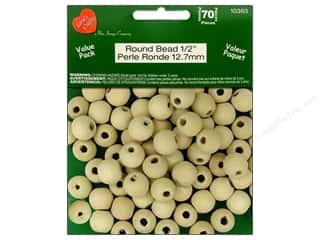 craft & hobbies: Lara's Wood Round Beads Value Pack 1/2 in. 70 pc.
