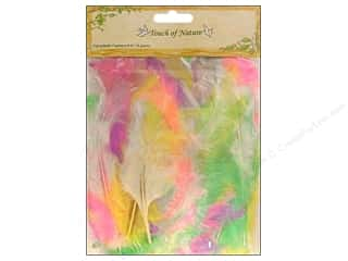 craft & hobbies: Midwest Design Turkey Flat Feathers 14 gm. 4 - 6 in. Pastel