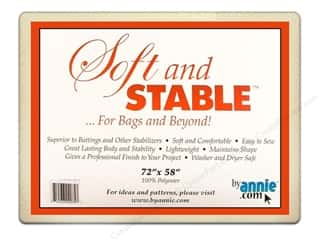 Polyester batting: By Annie Soft And Stable Stabilizer 72 x 58 in. White