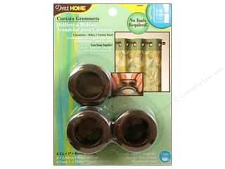 plastic curtain grommets: Dritz Home Curtain Grommets 1 in. Round Rustic Brown 8pc