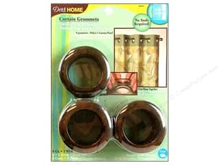 dritz curtain grommets: Dritz Home Curtain Grommets 1 9/16 in. Round Rustic Brown 8pc