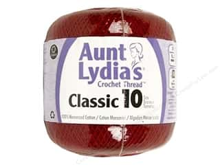 Aunt Lydia's Classic Cotton Crochet Thread Size 10 350 yd. Cardinal Red