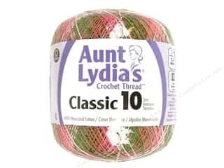 yarn & needlework: Aunt Lydia's Classic Cotton Crochet Thread Size 10 300 yd. Pink Camo