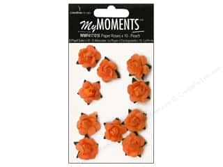 My Moments Embellishment Flower Paper Mini Roses Peach