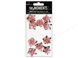 My Moments Embellishment Flower Paper Mini Roses Pink