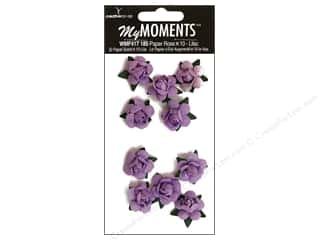 My Moments Embellishment Flower Paper Mini Roses Lilac