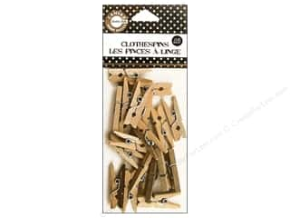 Canvas Corp Mini Clothespins 25 pc. Natural