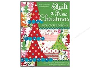 C&T Publishing Quilt a New Christmas with Piece O'Cake Designs Book by Becky Goldsmith and Linda Jenkins