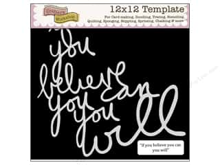 Clearance The Crafters Workshop Template: The Crafter's Workshop Template 12 x 12 in. If You Believe