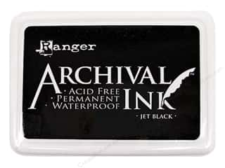 ink pads: Ranger Archival Ink Pad #0 Pad Jet Black
