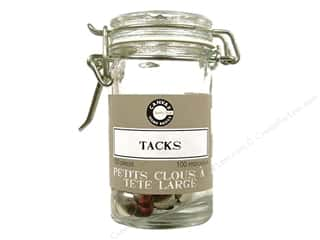 Canvas Home Basics: Canvas Corp Tack Hardware Jar 100 pc. Silver