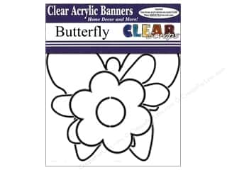 Clearance Clear Scraps Clear Expressions: Clear Scraps Clear Banners 7 pc. Butterfly