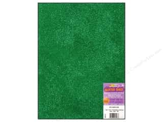 craft & hobbies: Darice Foamies Foam Sheet 9 x 12 in. 2 mm. Glitter Green