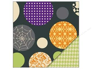 Bazzill dotted swiss cardstock: Bazzill Paper 12x12 Spooky & Kooky Halloween Ball/Green Houndstooth 25 pc.