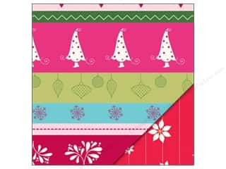 Holiday Sale Printed Cardstock: Bazzill Paper 12x12 Holiday Style Holiday Stripe/Pinstripe Poinsettia 25 pc.