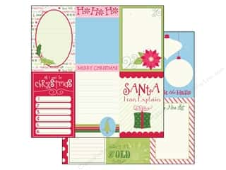 Holiday Sale Printed Cardstock: Bazzill 12 x 12 in. Paper Lickety Slip Holiday Style Vertical 25 pc.