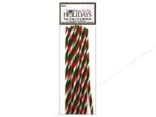 Chenille Stems by Darice 6 mm x 12 in. Twist Red/White/Green 10 pc.