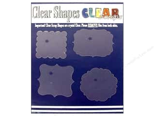 Clear Scraps Clear Shapes 4 pc. Frames