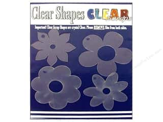 Clearance Clear Scraps Clear Expressions: Clear Scraps Clear Shapes 4 pc. Flowers