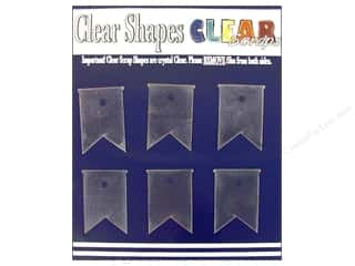 Clearance Clear Scraps Clear Expressions: Clear Scraps Clear Shapes 6 pc. Pennants