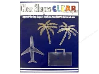 stamps: Clear Scraps Clear Shapes 4 pc. Vacation