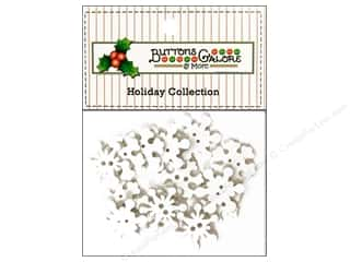 Button: Buttons Galore Theme Button Holiday Snowflakes