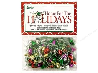 craft & hobbies: Darice Garland 9/16 in. x 6 ft. Metallic Light Bulbs