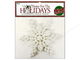 twine: Darice 6 1/2 in. Snowflake 6 pc. Glitter White