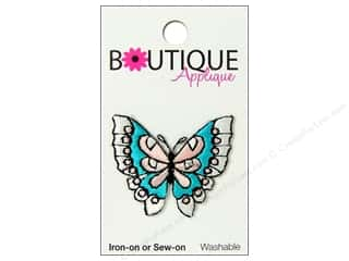 Blumenthal Boutique Applique 1 1/2 in. Blue & Pink Butterfly