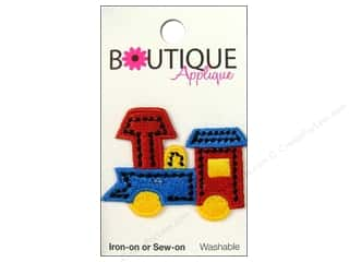 Blumenthal Boutique Applique 1 3/4 in. Train Blue/Red/Yellow