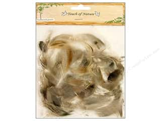 Feathers: Midwest Design Goose Feathers Domestic 6 gm. Natural