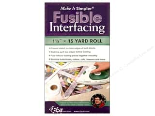 C&T Make It Simpler Fusible Interfacing 1 1/2 in. x 15 yd.