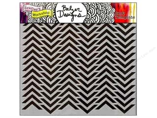 Designers Workshop: The Crafter's Workshop Template 6 x 6 in. Chevron