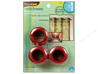 dritz curtain grommets: Dritz Home Curtain Grommets 1 in. Round Red 8pc