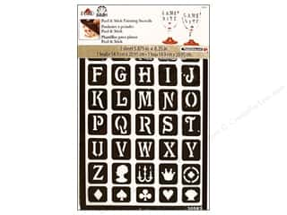 craft & hobbies: Plaid FolkArt Peel & Stick Painting Stencils - Classic Alphabet