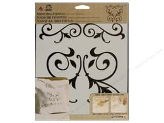 craft & hobbies: Plaid FolkArt Painting Stencils 8 1/2 x 9 1/2 in. Scroll