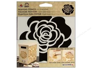 Plaid Stencil 6 x 6 in. Single Rose