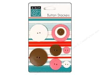 Bazzill: Bazzill Buttons Stackers 9 pc. Circle